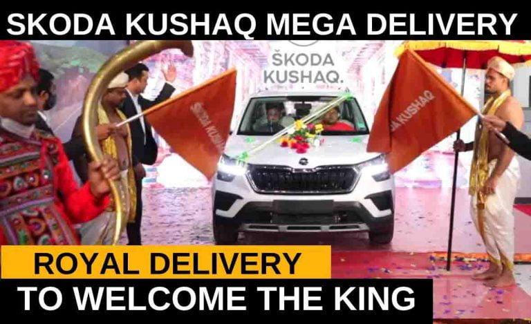 Watch Skoda Kushaq Mega Delivery In Royal Style!