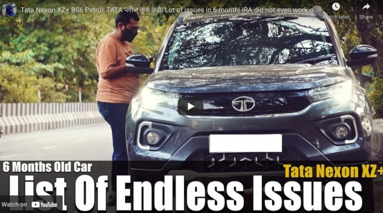 Tata Nexon XZ+ Top Model Problems Detailed on Tape By Owner