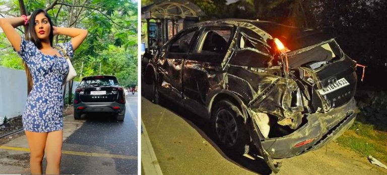 Popular Actress Critically Injured as Her Tata Harrier Overturns in Accident!