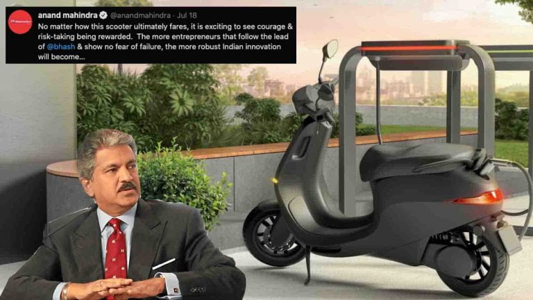 Ola Electric Scooter Gets Support From Anand Mahindra!