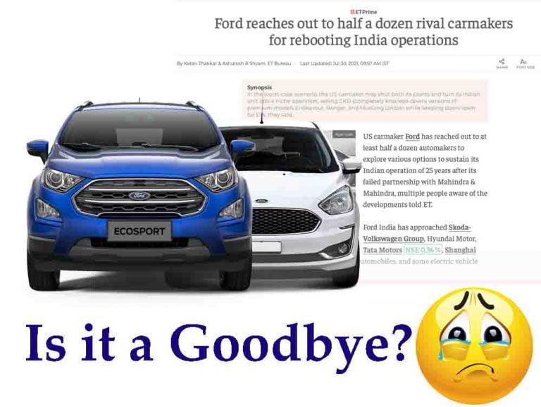 News on Ford EcoSport, Figo Family Discontinuation Surfaces Web