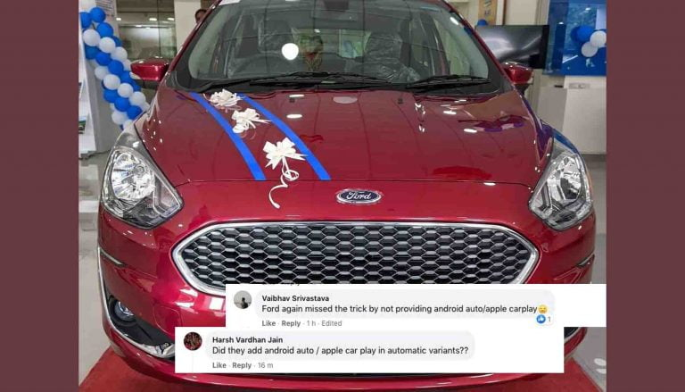 Ford Figo Continues to Lack Android Auto/Apple CarPlay- Upsets Many