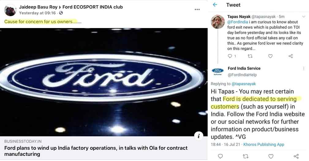 ford india discontinuation