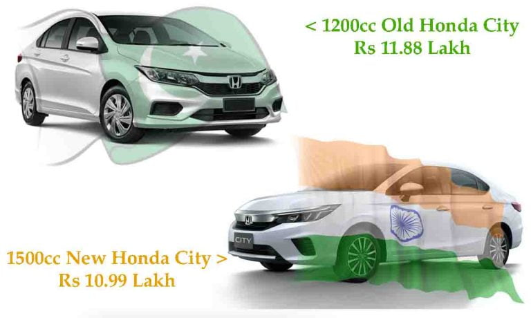 Old Honda City Launched in Pakistan, Gets 1200cc Engine