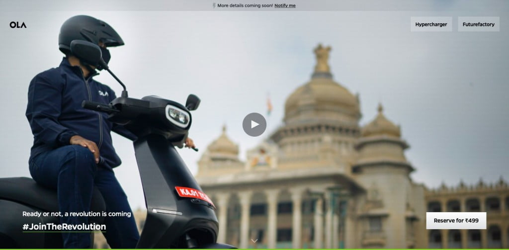 how to book ola electric scooter online