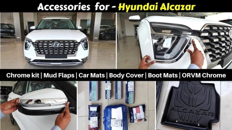 Hyundai Alcazar Accessories Detailed With Prices