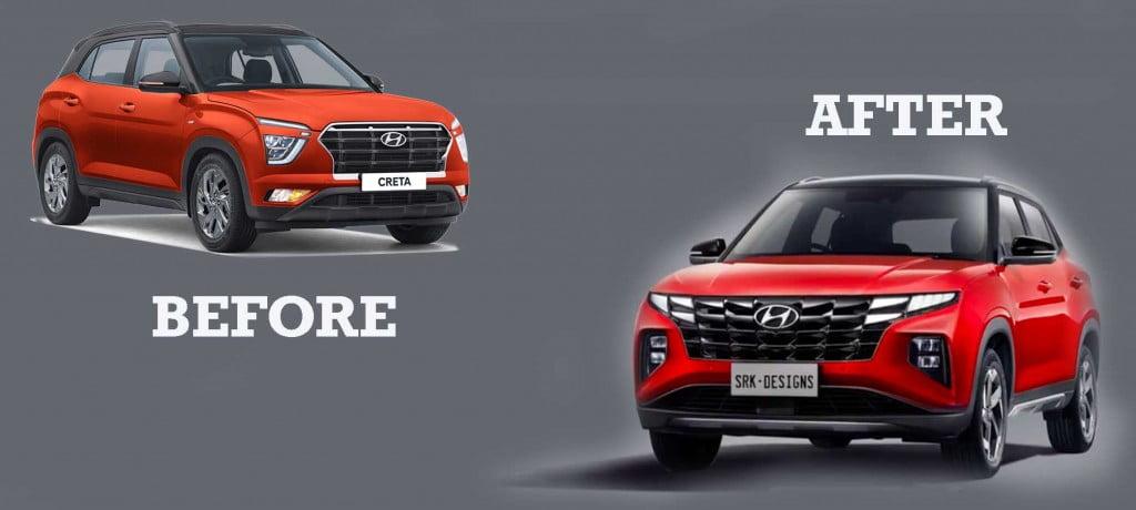 hyundai creta facelift new vs old