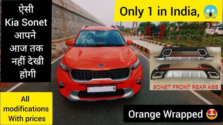 First-ever Kia Sonet Covered in Bright Orange Wrap