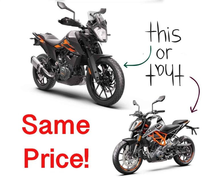 KTM 250 Adventure Now Available For Price of 250 Duke!