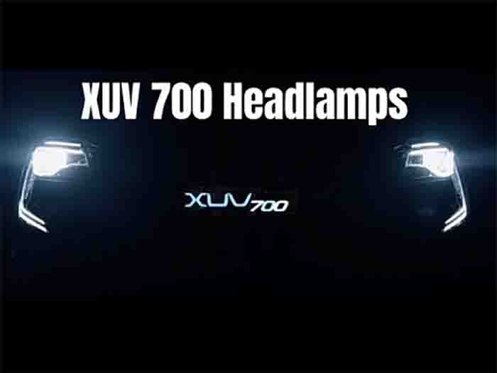 Mahindra XUV700 Clear View LED Headlamps Revealed in Latest Teaser