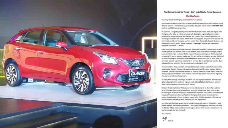 Frustrated Toyota Glanza Owner Calls For Boycott Of Toyota Cars!