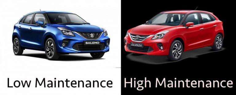 Toyota Glanza Spare Parts 10-11 Times COSTLIER Than Maruti Baleno?