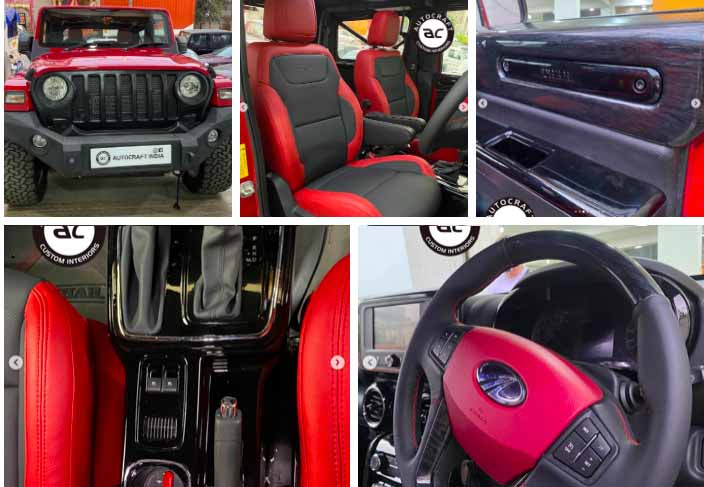 How About This Dual Tone Black-Red Mahindra Thar Modification?