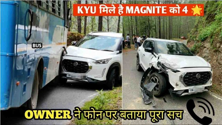 Nissan Magnite Hit By Bus With Drunk Driver – Owner Records Aftermath