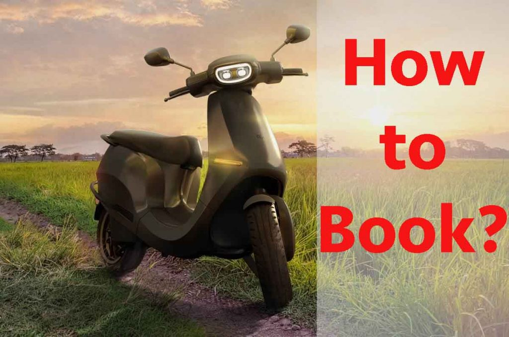 ola electric scooter how to book