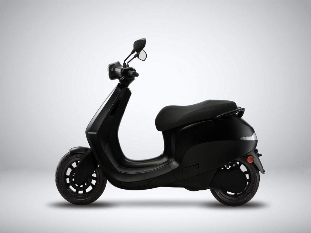 ola electric scooter series s side profile mattle black