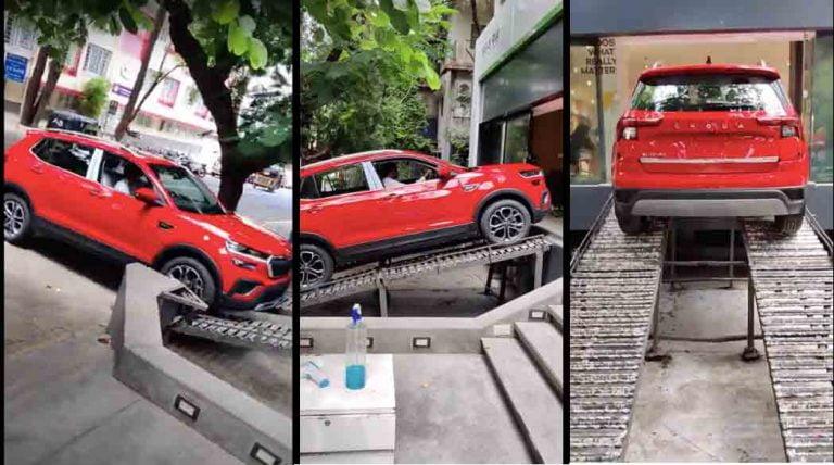 Skoda Kushaq In Red Arrives At The Dealerships – Deliveries Start On July 12!