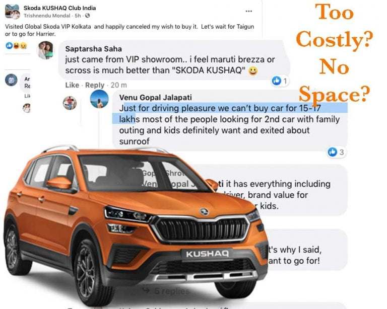 Price and Space Major Reasons For Skoda Kushaq Booking Cancellations