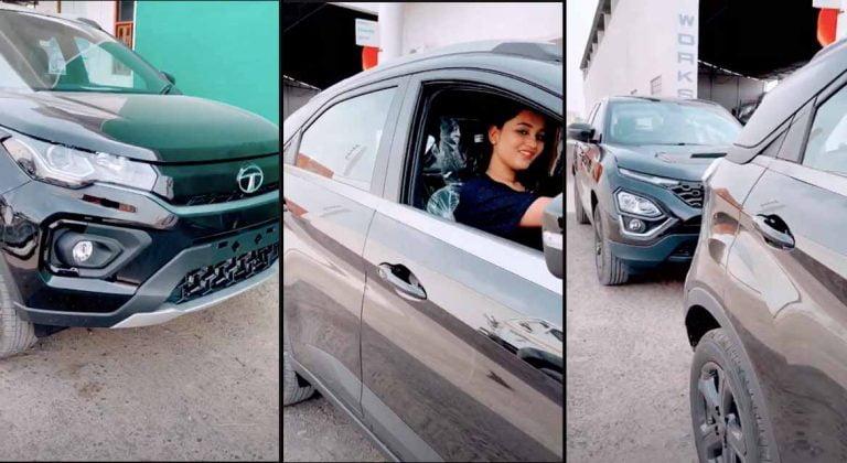 Watch Tata Nexon Dark Edition Parked Along With Harrier Dark Edition