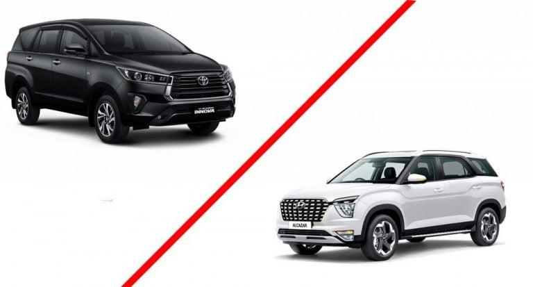 Hyundai Alcazar VS Toyota Innova Crysta – Specs Comparison
