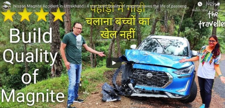 Nissan Magnite NCAP Rating Highlighted Through This Accident!