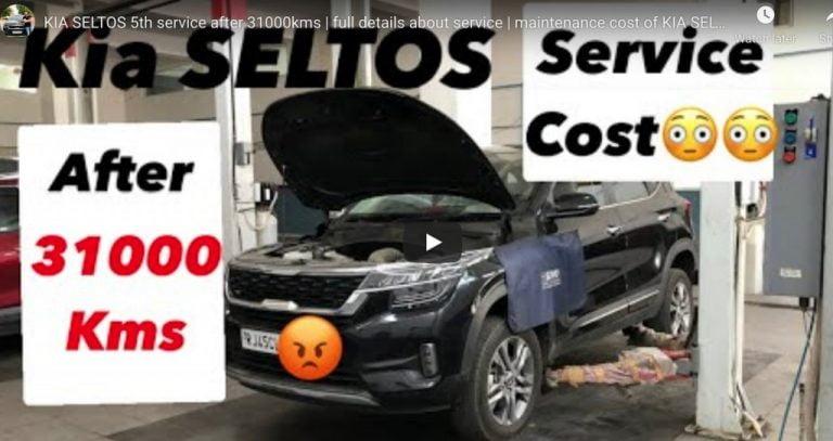 Kia Seltos 30,000 km Service – Maintenance Cost!