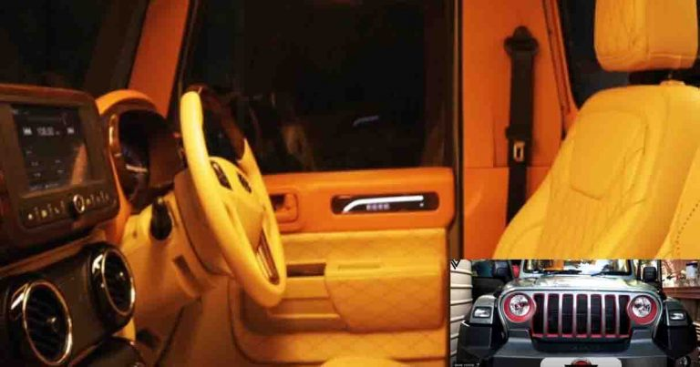 Here's The Best Mahindra Thar Interior Modification You'll Ever See!