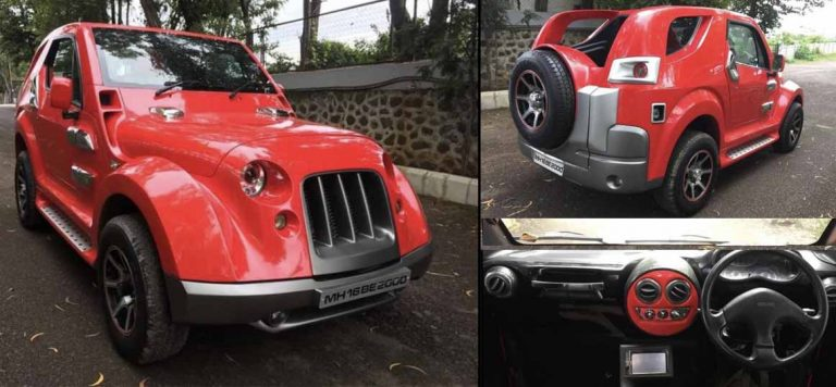 Bizarre-Looking DC-Modified Mahindra Thar For Sale at Rs 10 Lakh!