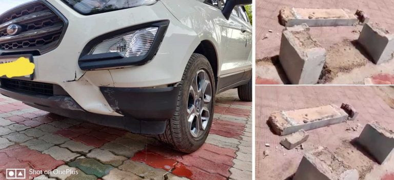 """Ford EcoSport Puts Cement Bench's """"Build Quality"""" To Test!"""