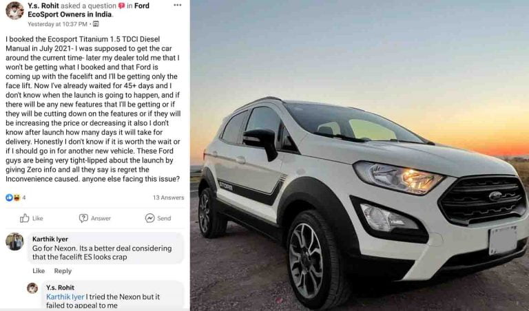 Dealer Refuses Delivery of Ford EcoSport Until Launch of Facelift