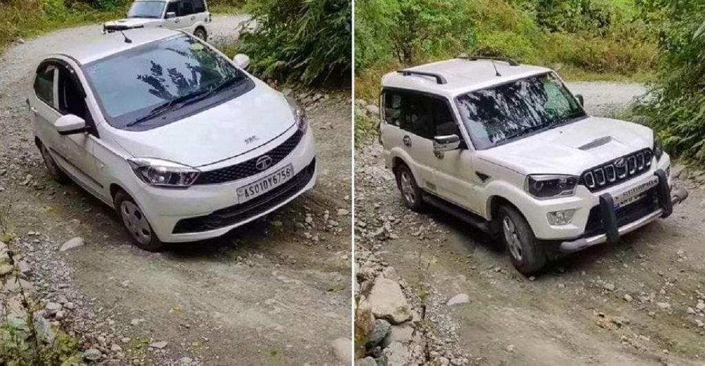 mahindra scorpio vs tata tiago uphill