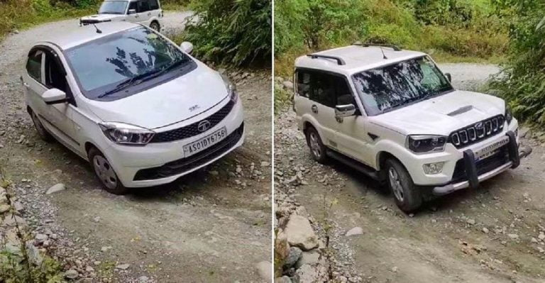 Mahindra Scorpio STRUGGLES Uphill Even As Tata Tiago Flies Thru