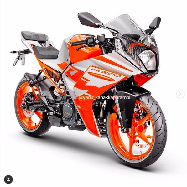 new 2022 ktm rc200 images front three quarters
