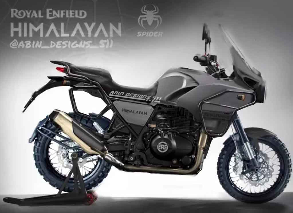 royal enfield himalayan spider side profile images