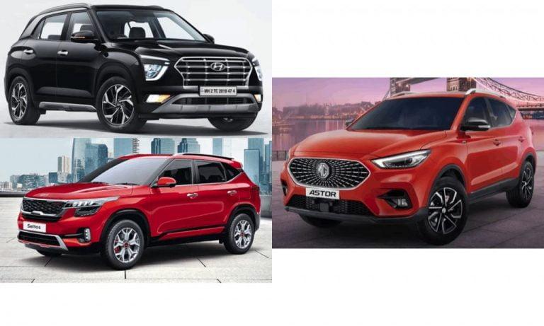MG Astor vs Hyundai Creta vs Kia Seltos Comparison – Specs, Features & Dimension!
