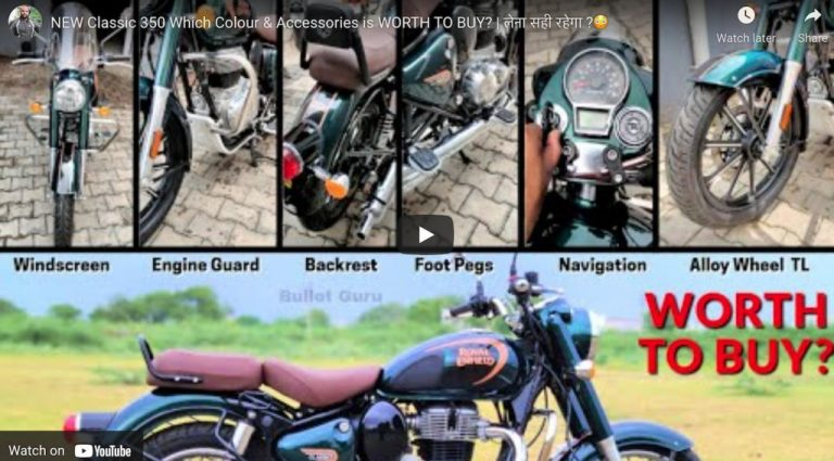 Here's A Good Look At All Accessories of New Royal Enfield Classic 350