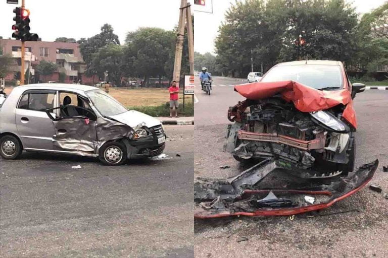 Old Hyundai Santro Collides With Ford EcoSport -Shocking Results!
