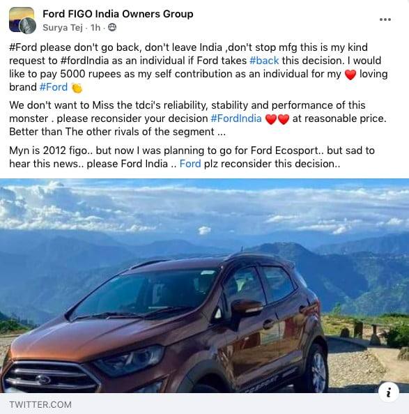 Ford India Fans Quit