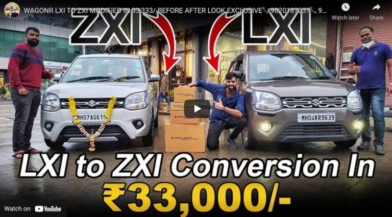 Watch Maruti WagonR LXi Being Modified To ZXi In Rs 33,333!
