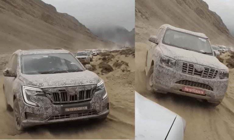 2022 Mahindra Scorpio and XUV700 Spotted Cold Weather Testing in Leh!