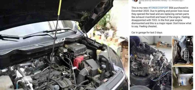 Yet Another Case of DEFECTED BS6 Ford EcoSport Comes to Light