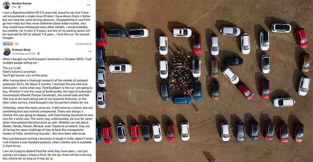 ford ecosport owners support formation