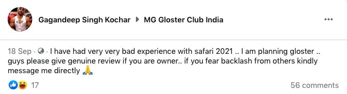 gagandeep singh kochar tata safari mg gloster dealer fraud