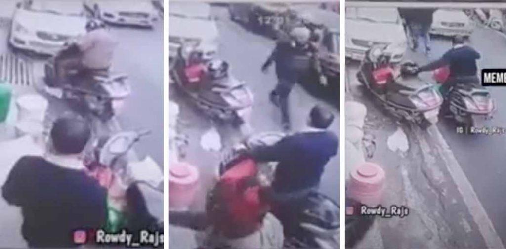 honda activa helmet thief