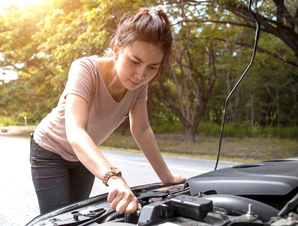 how to check engine oil