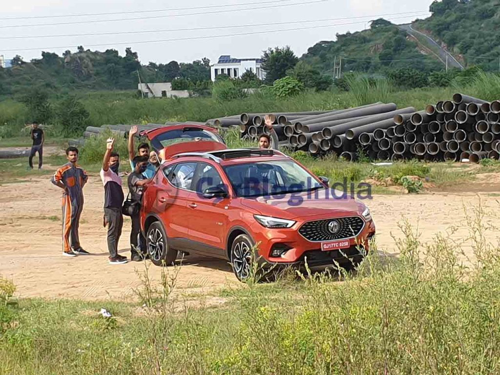 mg astor red front three quarters spy images gurgaon