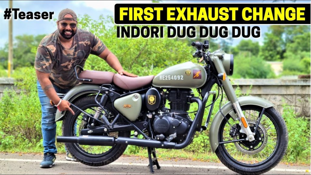 new generation Royal Enfield classic 350 aftermarket silencer