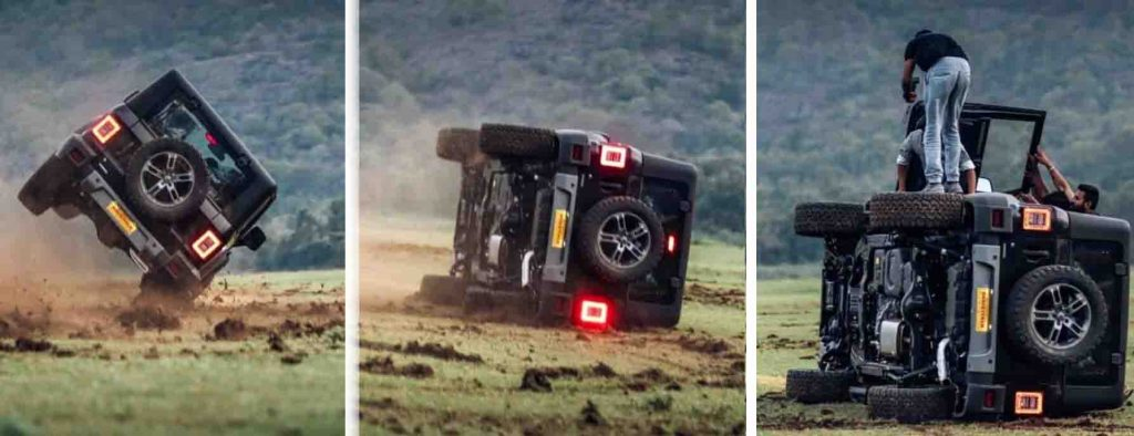 new mahindra thar accident images