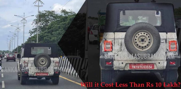 Budget Version of Mahindra Thar (Less Power with 2WD) Spied Testing