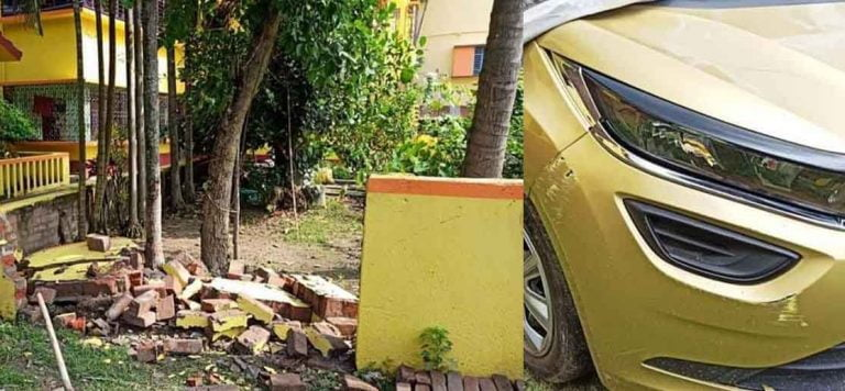 Tata Altroz (5-Star NCAP) Tests 'Build Quality' of Brick Wall!